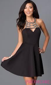 black dress black dress cut out neckline promgirl
