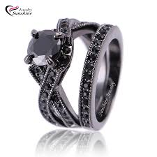 black gold wedding sets gold blue topaz ring picture more detailed picture about black