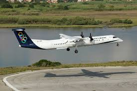 file olympic air dash 8 q400 landing at corfu international