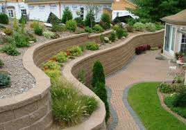 garden brick wall design ideas outstanding fresh grass side brick floor right for retaining wall