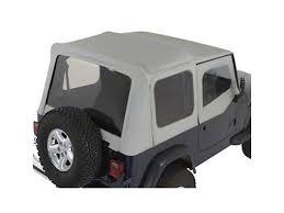 charcoal black jeep rugged ridge wrangler soft top w tinted windows door skins