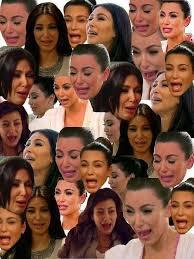 Kim Kardashian Crying Meme - kim kardashian has the ugliest crying face ever it s so funny