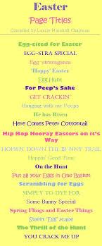Easter scrapbook titles Scrapbook Types Pinterest