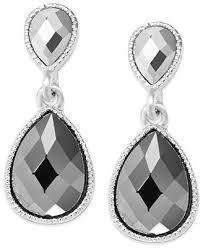 concepts earrings inc international concepts earrings silver tone teardrop