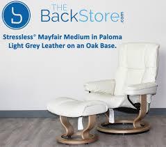 Grey Leather Recliner Stressless Mayfair Light Grey Leather Recliner Chair And