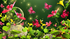 spring butterfly hd wallpaper nc spring flowers and butterflies