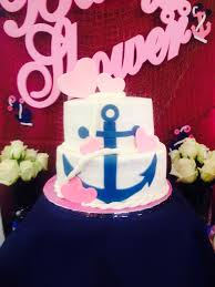 anchor baby shower nautical anchor baby shower cake the flour girl cakes