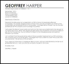 ceo cover letter exles ceo resignation letter resignation letters livecareer