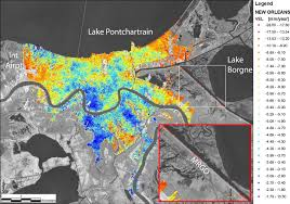 Map New Orleans by Subsidence In New Orleans Image Of The Day