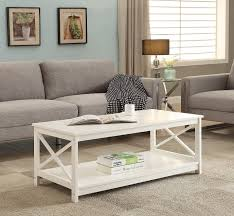amazon com white finish x design wooden cocktail coffee table