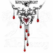 gothic heart necklace images Alchemy gothic bleeding heart necklace gothic jewellery wings jpg