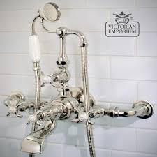 wall mounted bath shower mixer with classic styling bath taps