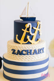 nautical cake kara s party ideas nautical themed 100th day party kara s party