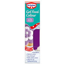 ultra violet gel food colour food coloursby dr oetker