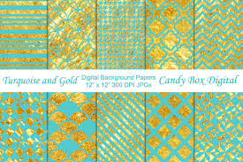 turquoise and gold background paper patterns creative market