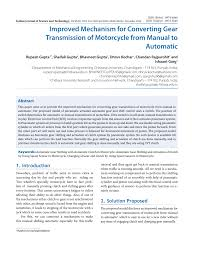 improved mechanism for converting gear transmission of motorcycle