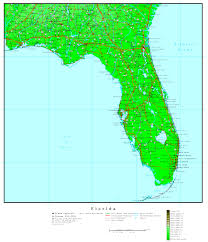 Palm Bay Florida Map by Florida Elevation Map