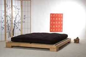 amazing japanese platform bed wood frame black mattress and