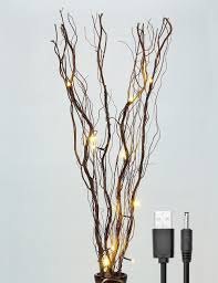 amazon com lightshare upgraded 36inch 16led natural willow twig
