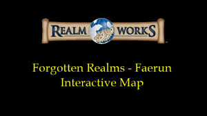 Forgotten Realms Map Realm Works Forgotten Realm Faerun Interactive Map Youtube