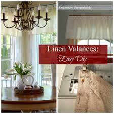Linen Valance Cheap And Easy Exquisitely Unremarkable