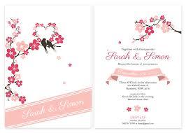 cherry blossom wedding invitations cherry blossom hearts personalised wedding invitations cherry