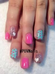 pink stripes heart nails valentines pinterest pink stripes