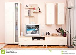 Furniture For Tv Set Interior Room Furniture With Shelve Tv Set Stock Photo Image