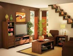 Living Room With Stairs by Small Apartment Living Room Ideas Rectangular Dark Brown Wooden