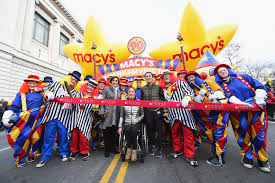 parade ribbon photos macy s thanksgiving day parade 2016