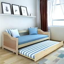 pull out sofa bed wooden day daybed trundle solid wood beds 4
