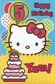 amazon com greeting card birthday hello kitty