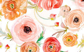 Modern Floral Wallpaper Modern Floral Watercolor Wallpaper