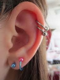 hoop cartilage piercing 70 best ear piercings images on piercing ideas
