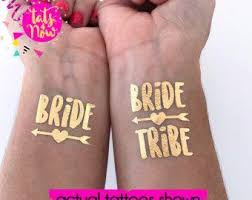 team bride tattoos for bachelorette party and hens party