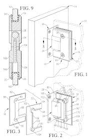 glass door clamp patent us6560821 glass door hinge google patents