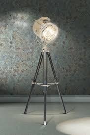 bardot large retro tripod floor lamp classic tripod floor light