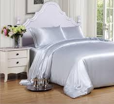 light pink and white bedding light pink light blue voilet color 100 mulberry silk bedding set 16