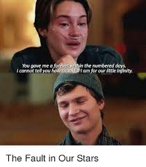 The Fault In Our Stars Meme - you gave me a forever within the numbered days i cannot tell you how
