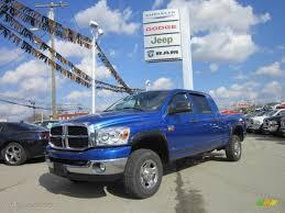 2007 electric blue pearl dodge ram 2500 slt mega cab 4x4 62312223