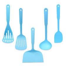 ustencils cuisine bleu enduit enduit de qualité alimentaire ustensiles de