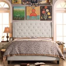 Beige Upholstered Bed Beds Joss U0026 Main