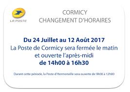 horaire bureau poste changement d horaires à la poste actualités cormicy