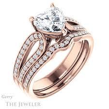 heart shaped engagement ring heart shaped forever brilliant moissanite engagement ring gtj1198