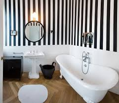 Striped Wallpaper Bathroom with Milan Green And White Striped Wallpaper Bathroom Traditional With