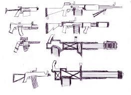 sketch unknown gunmen u0027s weapons by dogwhitesector on deviantart