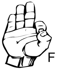 the letter f in sign language letter of recommendation