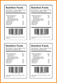 stunning food labels template photos resume templates ideas
