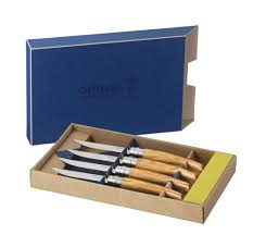 opinel kitchen knives review opinel ashwood handle steak knife set 4 piece cutlery and more