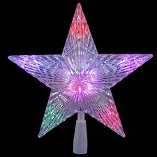 10 led star tree topper colour changing 2960m amazon co uk